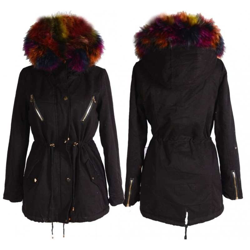quality design fce25 242f6 WINTER PARKA ECHT FELL WARM GEFÜTTERT JACKE MANTEL KAPUZE 36 ...